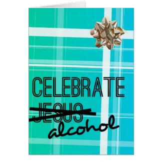 Célébrez l'alcool carte de vœux