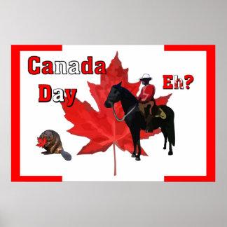 Célébrez le jour du Canada Affiche