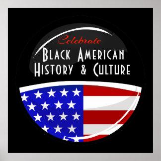 Célébrez l'emblème brillant d'histoire américaine poster