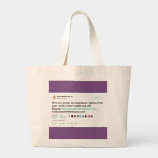 Celebrity Graphic Tweet Jumbo Tote