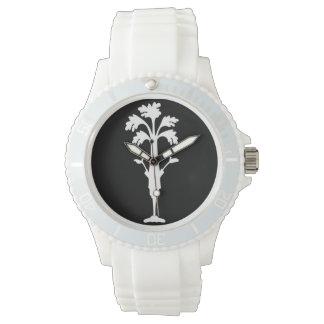 'Celery Charles' Logo Sporty Watch Silicone Strap