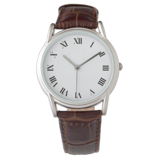 Celery Charles Men Leather Strap Cappuccino Watch
