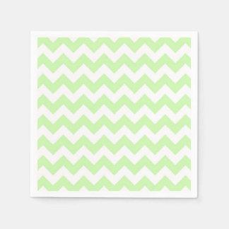 Celery Green, White Chevron ZigZag Pattern Paper Napkins