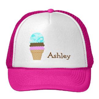Celeste Camo; Ice Cream Cone Mesh Hat