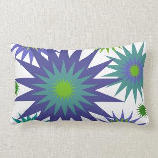 Celestial3 Purple Blue Green Star Lumbar Pillow
