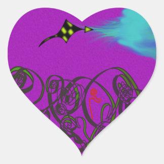 Celestial Battle Heart Sticker