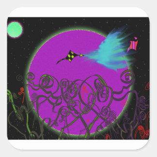 Celestial Battle Square Sticker