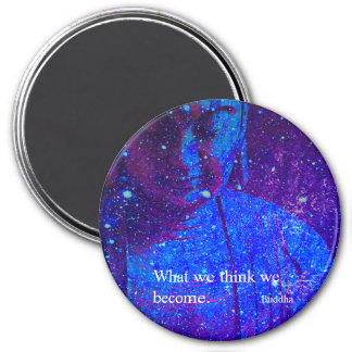 Celestial Blue Buddha With Quote Magnet