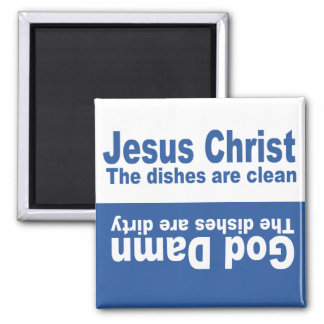 "Celestial Blue ""Jesus Christ"" Dishwasher Magnet"