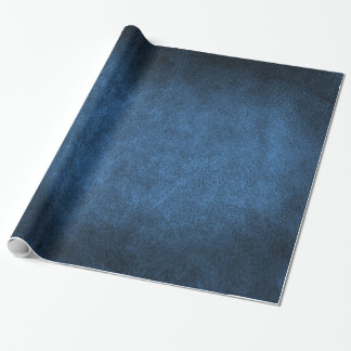 Celestial Blue Old World Faux Leather Wrapping Paper