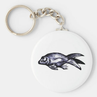 Celestial (Bubble Eye) Goldfish Basic Round Button Keychain