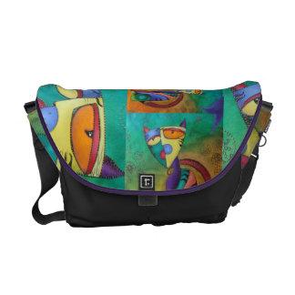 Celestial Cat Rickshaw Messenger Bag