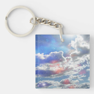 Celestial Clouds Keychain