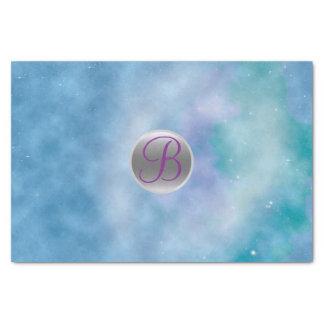 Celestial Cosmic Sky Monogram Letter Initial Tissue Paper