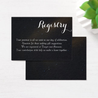 Celestial Dreams Registry Business Card