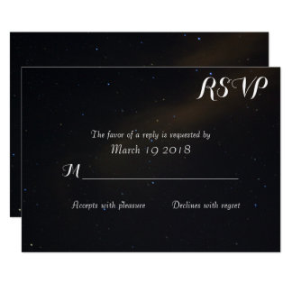 Celestial Dreams RSVP Card
