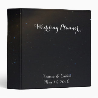 Celestial Dreams Wedding Planner Vinyl Binder
