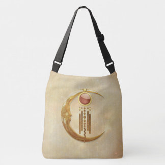 Celestial Elegance 3D New Age Crossbody Bag