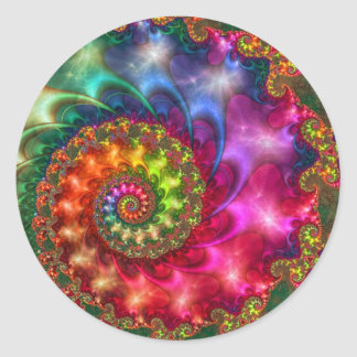 CELESTIAL ESOTERIC PAINTING CLASSIC ROUND STICKER