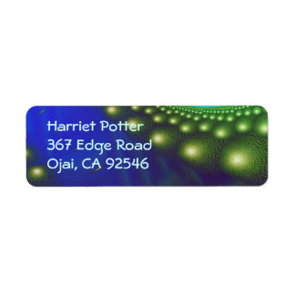 Celestial Forest Nature Pattern Abstract Art Return Address Label