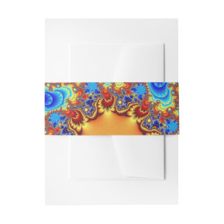 Celestial Fractalscope Invitation Belly Band
