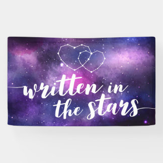 Celestial Galaxy Wedding Written In The Stars Banner