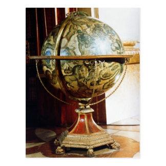 Celestial globe, 1688 postcard