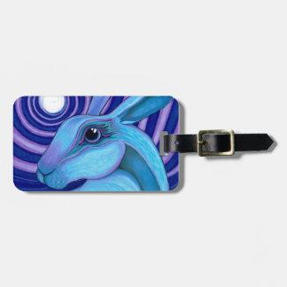 Celestial hare luggage tag