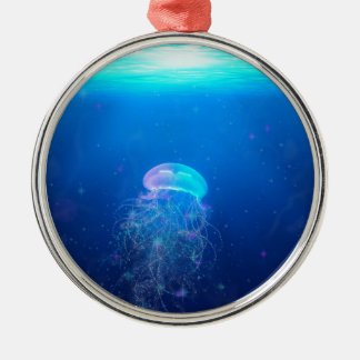 Celestial Jellyfish Metal Ornament