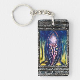 Celestial Light Double-Sided Rectangular Acrylic Keychain