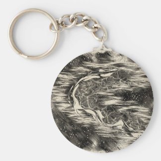 Celestial Man Basic Round Button Keychain