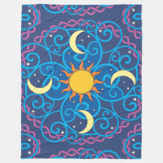 Celestial Mandala Fleece Blanket