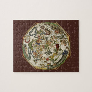 Celestial Map by Peter Apian, Vintage Astronomy Jigsaw Puzzle