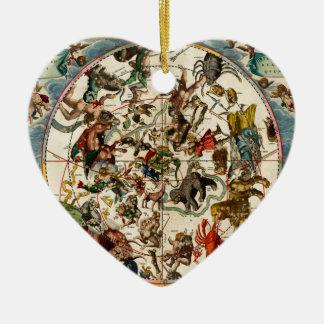 Celestial map.jpg ceramic heart ornament