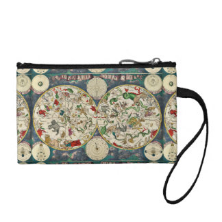 CELESTIAL MAP key coin clutch Change Purse
