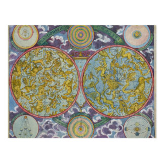 Celestial Map of the Planets Postcard