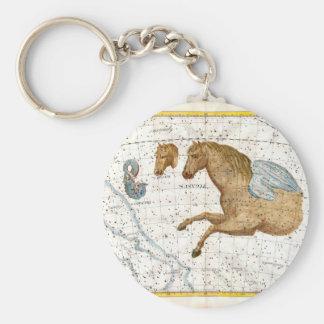 Celestial Map Pegasus Basic Round Button Keychain