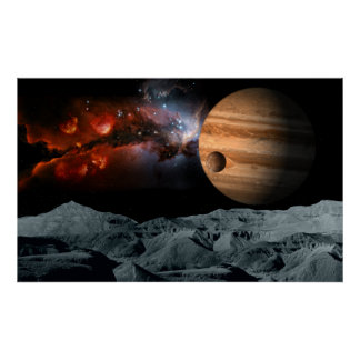 Celestial Marble Poster