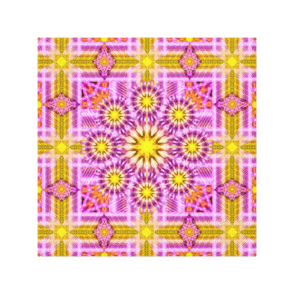 Celestial Matrix Mandala Canvas Print