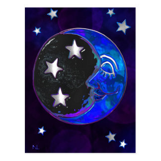 Celestial Momments Bohemian Folk Art VERT ONLY Postcard