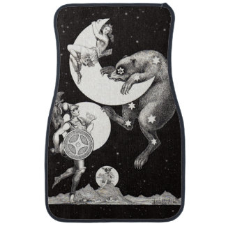 Celestial Moon Goddess Luna Ursa Major and Mars Car Mat