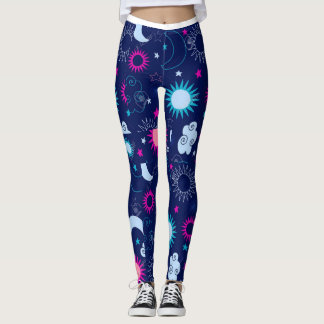 Celestial moon & stars leggings