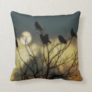 Celestial Moon Throw Pillow
