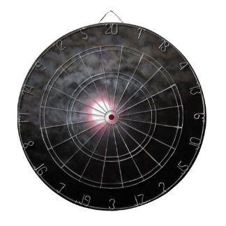 Celestial Moonlit Clouds Dart Board
