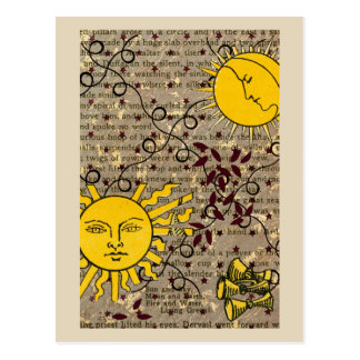 Celestial Nights Ascension Sun Moon Postcard