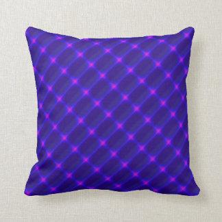 Celestial Pink Lights on Purple Throw Pillow
