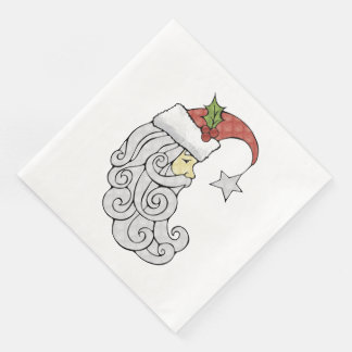 Celestial Santa Disposable Napkins