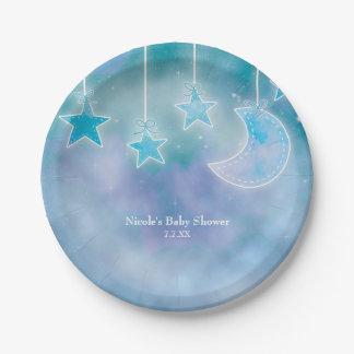 Celestial Sky Galaxy Cosmic Baby Shower Plates