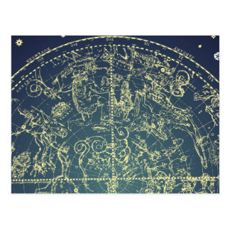 Celestial Space Chart Postcard