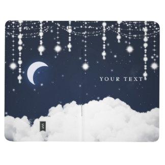 Celestial Sparkle Stars Moon Pocket Notebook